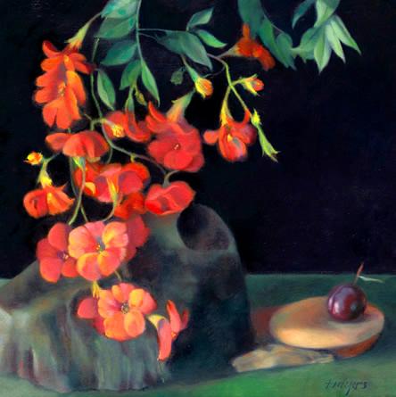 Still Life with Flowers and Plum